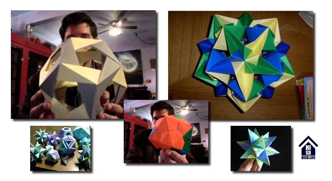 examples of Mark Rowe's origami art
