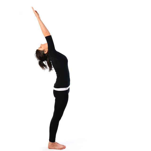 Surya Namaskar-Hastauttanasana (Raised Arms pose)