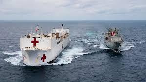 USNS Comfort hospital ship Leaves New York