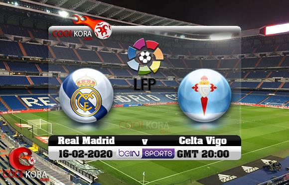 مشاهدة مباراة ريال مدريد وسيلتا فيغو اليوم 16-2-2020 في الدوري الأسباني