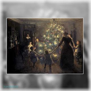Πίνακας ζωγραφικής του Viggo Johansen (Silent Night, 1891, λάδι σε καμβά)