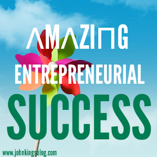 text 'amazing entreprenuerial successs' on colored background