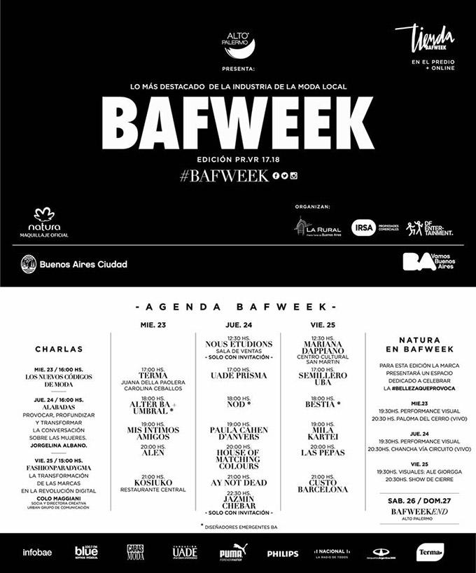 Moda 2018: BAFWeek Agenda y cronograma de desfles. Te prensentamos la grilla completa de la Semana de la Moda en Buenos Aires Bafweek. | Moda primavera verano 2018.