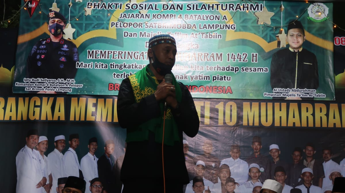 Polwan Polres Lamteng Latihan Menembak Di Mako Batalyon B Pelopor Brimob Lampung