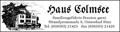 Haus Colmsee in Binz auf Rügen