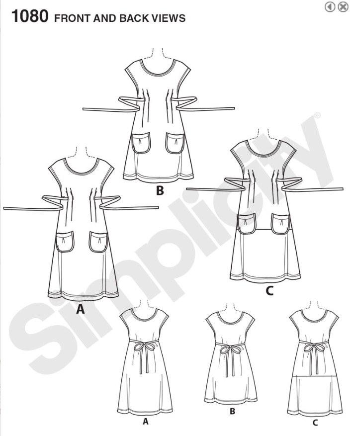 Simplicity 2015 1080 Dottie Angel dress part I