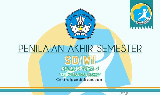 Contoh Soal PAS Kelas 3 SD/MI Tema 4