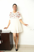 Lavanya Tripathi in Summer Style Spicy Short White Dress at her Interview  Exclusive 139.JPG