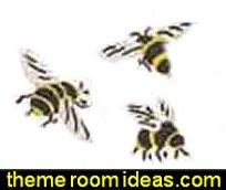 Bee Stencils  bumble bee bedrooms - Bumble bee decor - Honey bee decor - decorating bumble bee home decor - Bumble Bee themed nursery - bee wallpaper mural decals - Honeycomb Stencil - hexagonal stencils - bees in springtime garden bedroom -  bee themed nursery - black yellow bedroom ideas