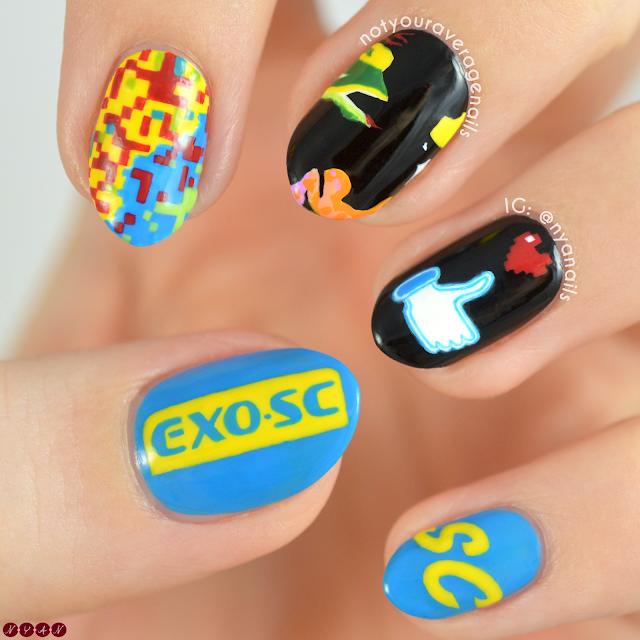 EXO-SC 1 Billion Views Nail Art