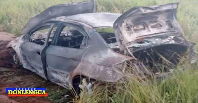 Basquetbolista venezolano murió calcinado dentro de este carro tras caerle un rayo
