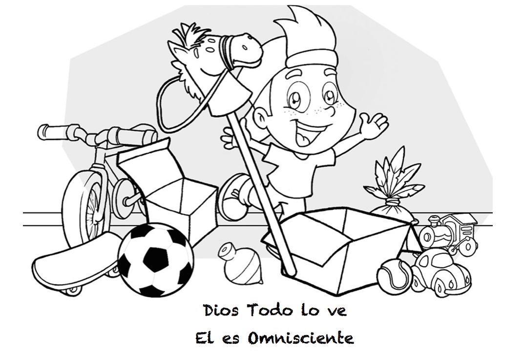 Dibujo De Chilena Para Colorear: Omnisciente, Omnipresente Y