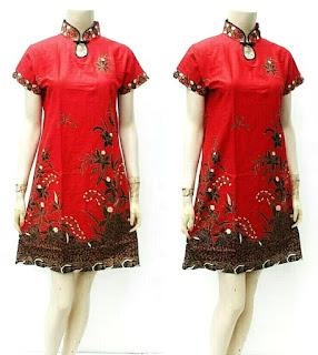 Contoh Baju Batik Wanita Modern Model Batik Terbaru 2018 Model Shanghai CHEONGSAM