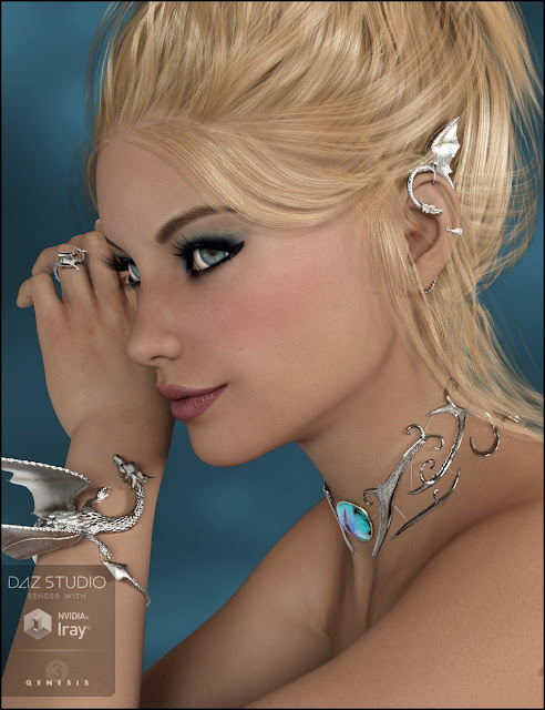 Dragon Horde Jewelry for Genesis 3 Female
