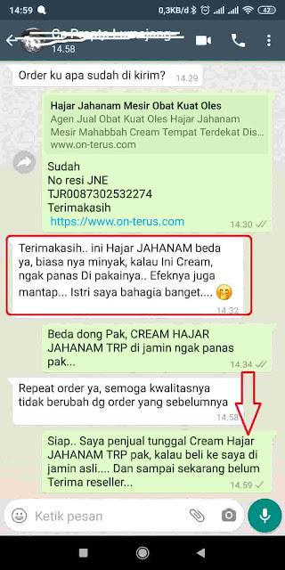 Cream Hajar Jahanam TRP Obat Kuat Oles Yang Tidak Panas Nyaman Aman Di Pakai