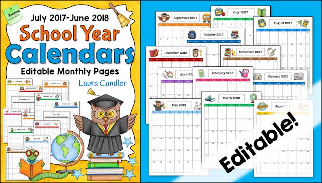 Editable Calendar Html Code : Corkboard connections grab your free  school