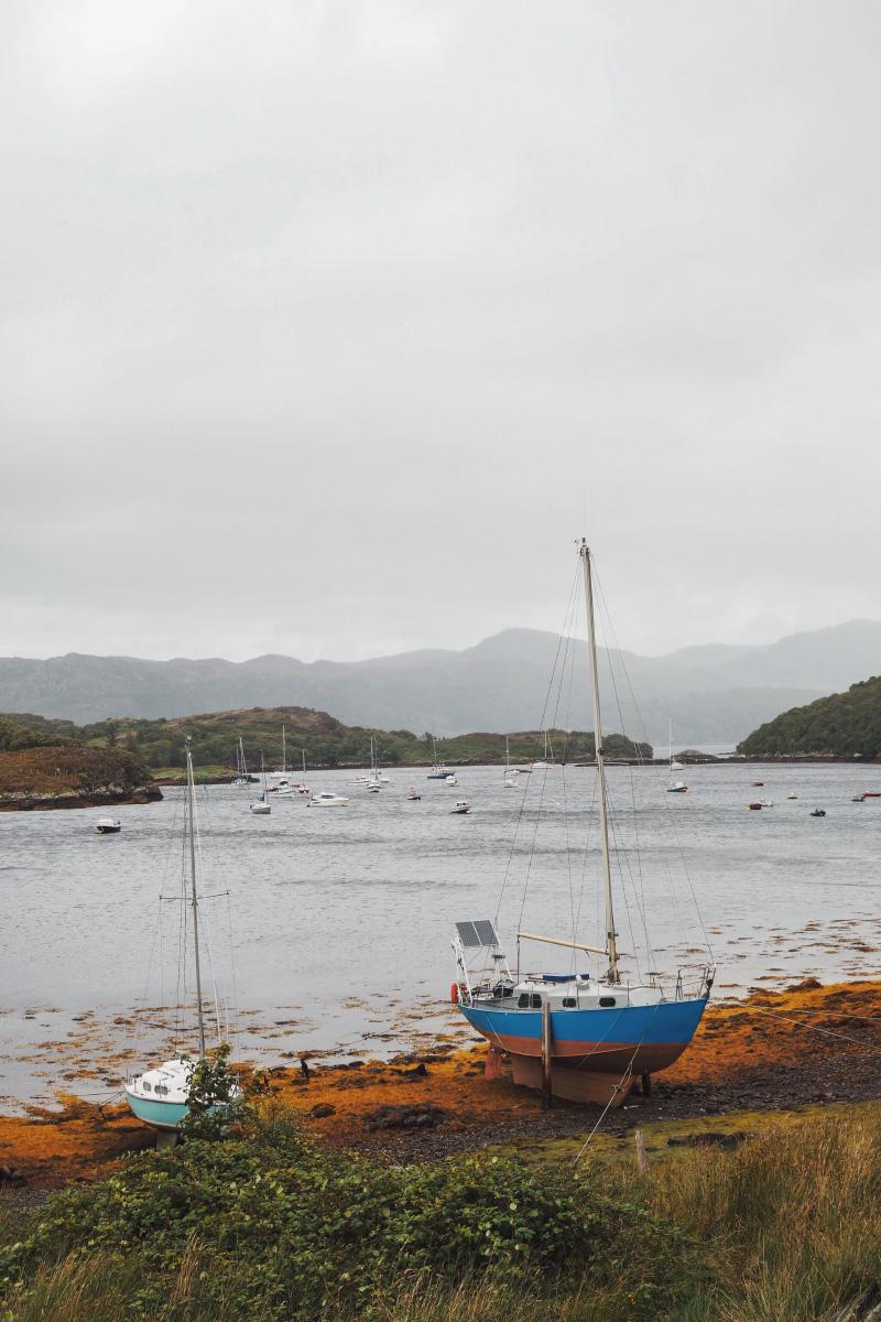 Voyage dans les Highlands en Ecosse : le village de Badachro