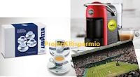 Logo Lavazza : vinci set tazzine, macchine A Modo Mio e viaggi a Londra