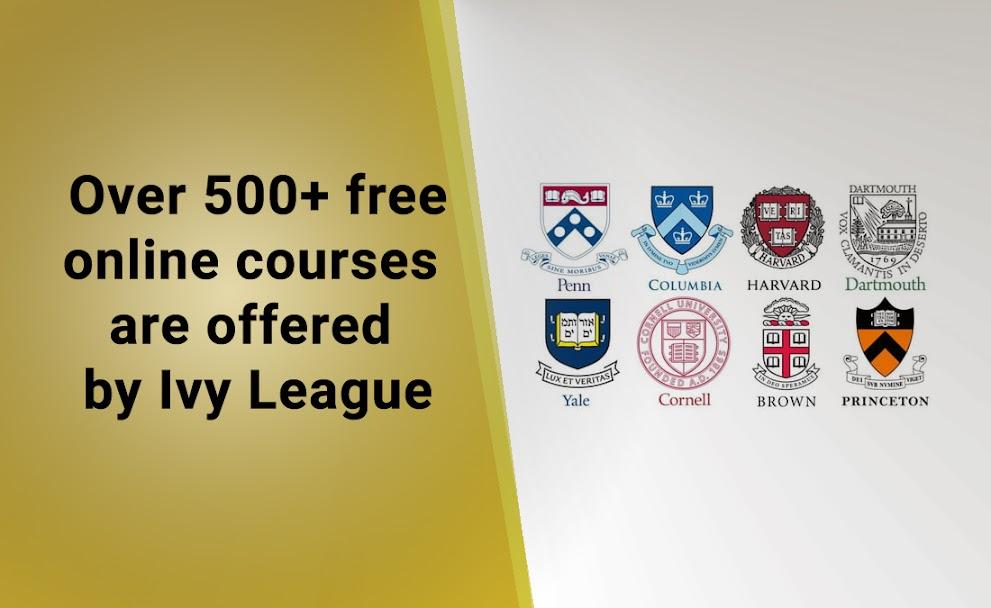 Best online courses Ivy League free