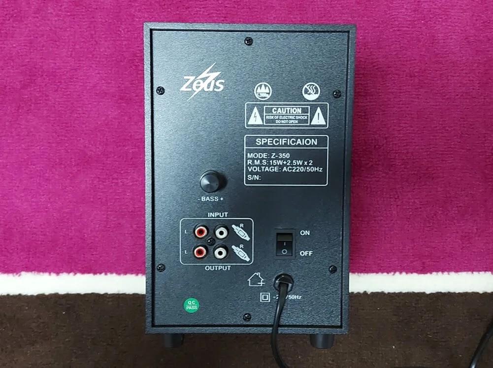 Zeus A-350 Bluetooth Speaker Rear
