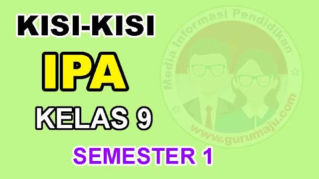 Kisi-Kisi UTS IPA Kelas 9 Semester 1 Kuriulum 2013