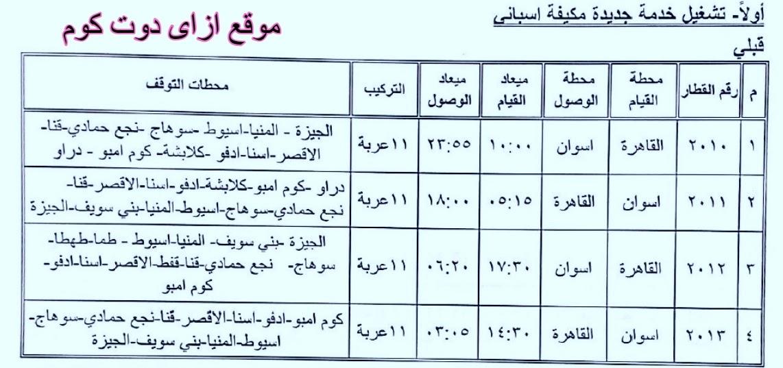 خط سير ومحطات وقوف قطار 2011 2010 2012 2013