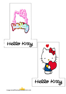 Imprimir y decorar lapices de hello kitty