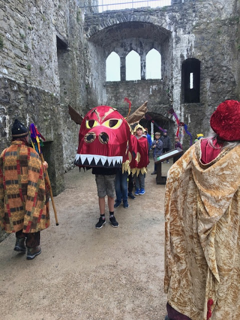 Dragon parade Pembroke castle