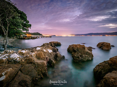 New Zealand, NZ, Wellington, Sunset, Sunrise, Seatoun, Karaka Bay, Wharf