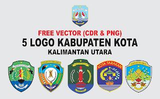 Free Vector Logo 5 Kabupaten Kota Kaltara