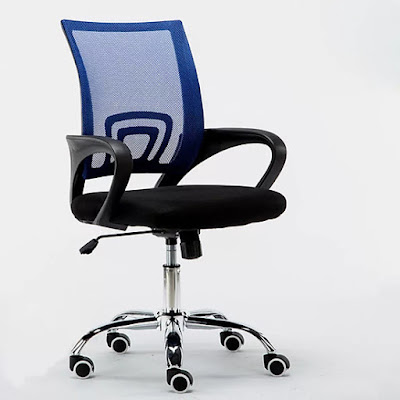 b74c73dd8780fc30e6aa8c81de1b5ba5 Ghế văn phòng chân xoay GLMV1   Màu xanh dương   Mẫu màu mới, đẹp, lạ