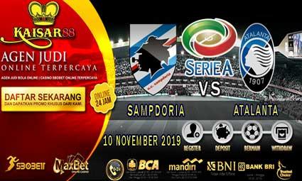 PREDIKSI BOLA TERPERCAYA SAMPDORIA VS ATALANTA 10 NOVEMBER 2019