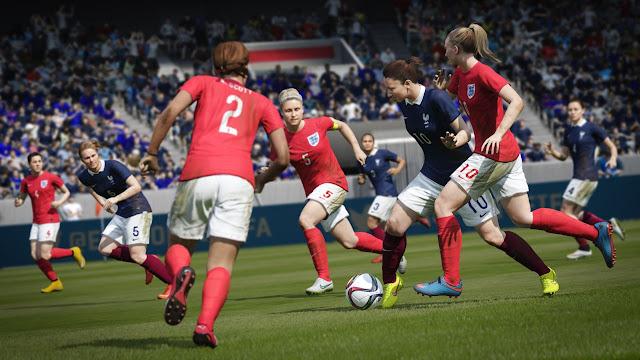 FIFA 16 equipos femeninos jugando