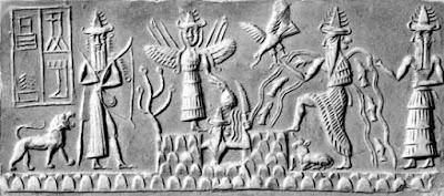 Tavoletta sumera raffigurante Enki nel mito della creazione.