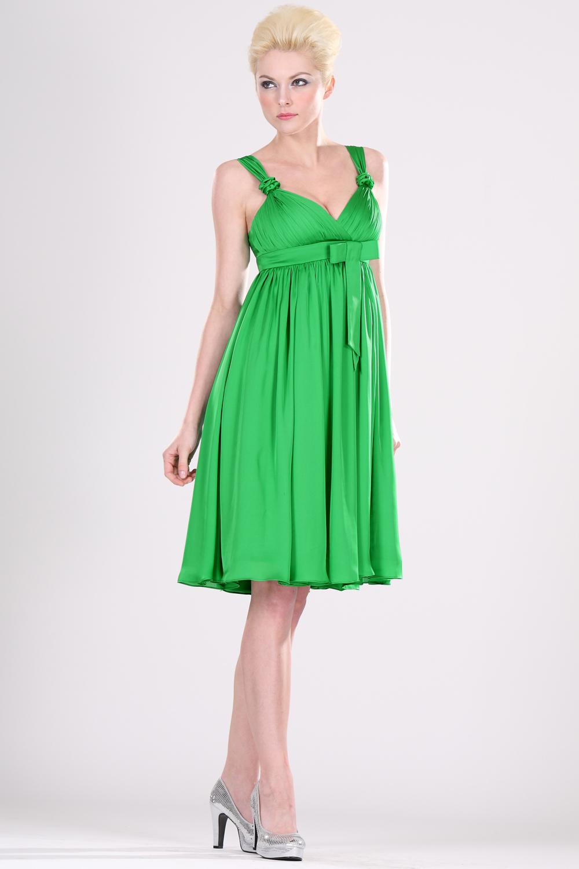 coiffurete dance  robe de soir u00e9e verte courte