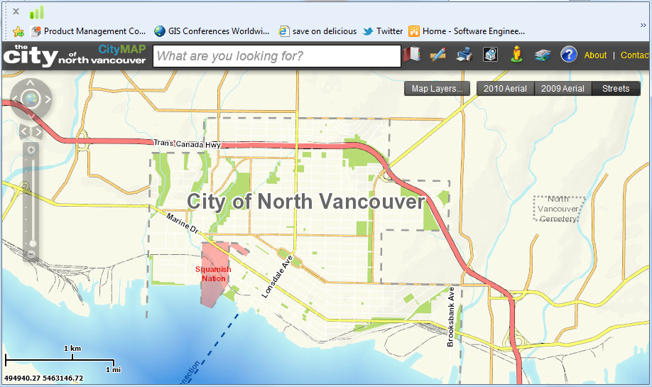 On Web Mapping: The City of North Vancouver Web Mapping Done