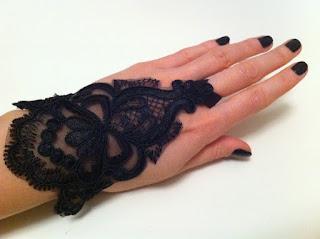 siyah güpür dantel eldiven satın al gece eldiveni