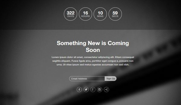 Free Html5 And Css3 Coming Soon Template