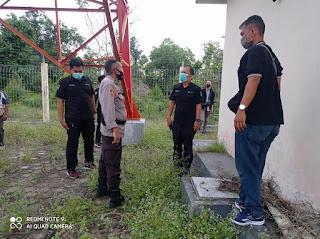 Sitipol Polres Lingga Lakukan Perbaikan Jaringan Komunikasi Polri
