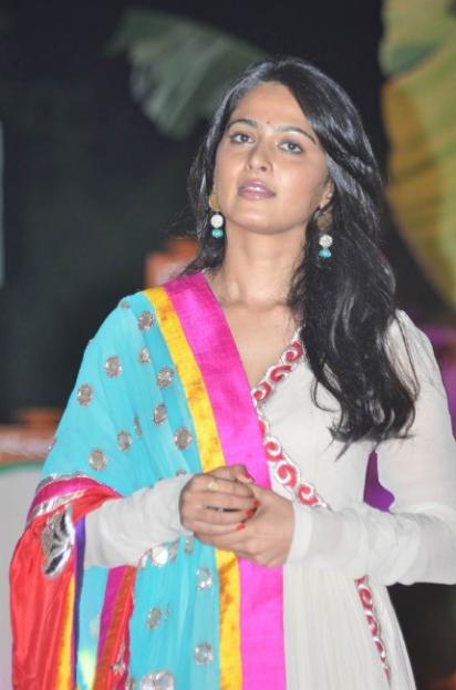 anushka shetty in white dress II