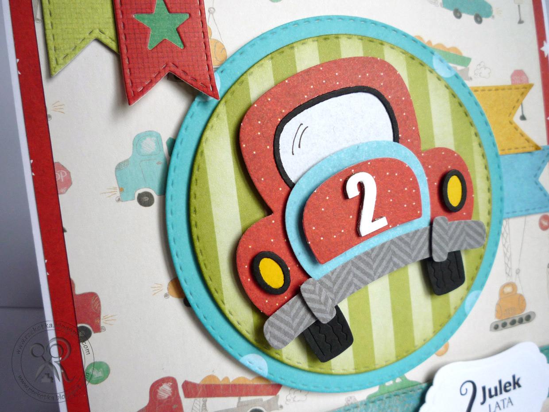Kartka dla dwulatka z autem