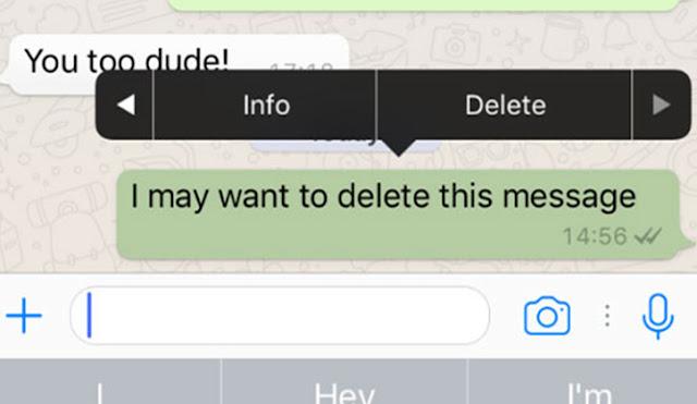 شرح كيفية حذف رسائل الواتس آب عند الطرفين