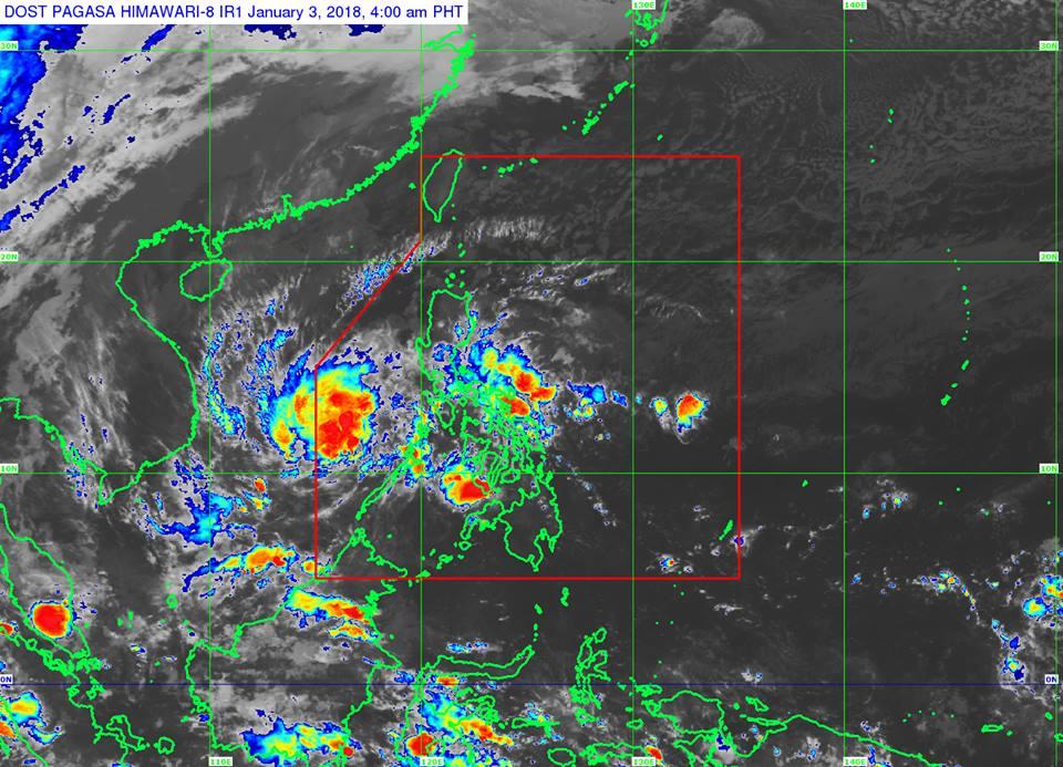 'Bagyong Agaton' PAGASA weather update January 3, 2018