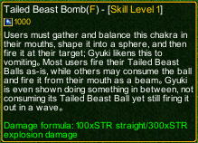 naruto castle defense 6.3 Tailed Beast Bomb detail