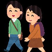 通学・通勤のイラスト(私服・女性)