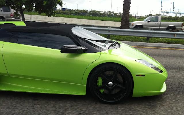 Green Lamborghini Murcielago Roadster - Miami Beach ...