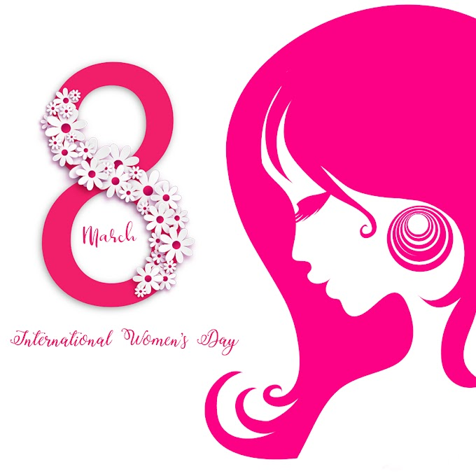 Happy Women's Day greeting card free psd