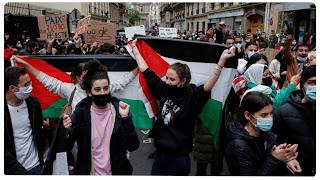 إيقاف العشرات خلال مظاهرة مساندة لفلسطين في باريس و منهم تونسيين...