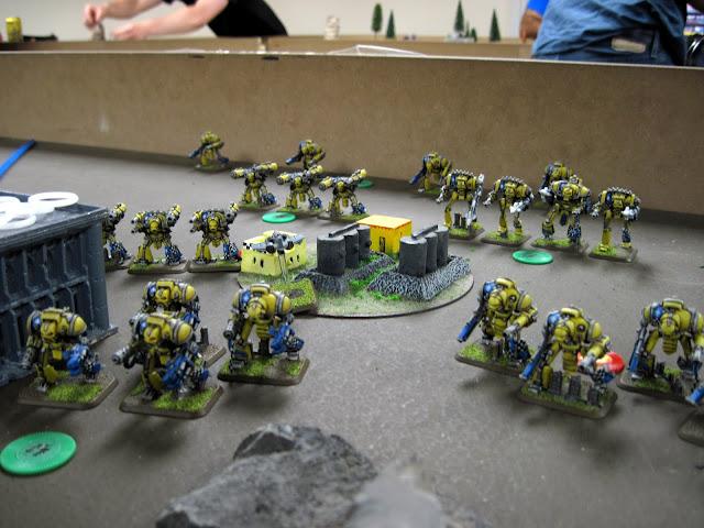 My Knights begrudgingly move forward.