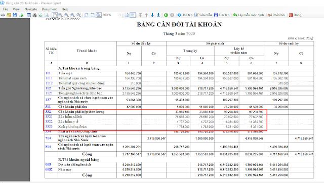 Cách tính và hạch toán BHXH, BHYT, KPCĐ kế toán xã phường trên Misabamboo.net
